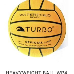 Weighted 'Turbo' water polo training ball.