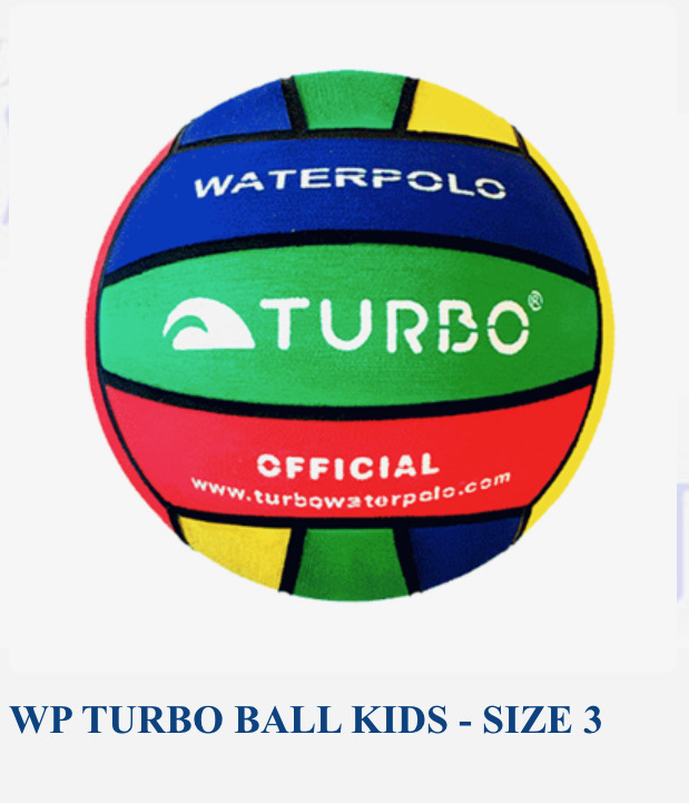 Turbo Size 3 Waterpolo balls - Pack of 5