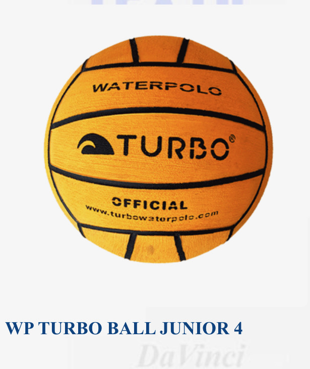 Turbo junior/ladies size 4 waterpolo balls - pack of 5