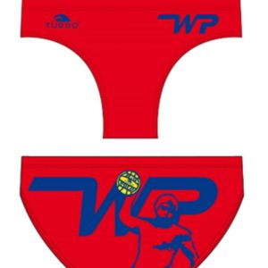 Turbo men's/boy's waterpolo trunks - WP player- 79242-Red